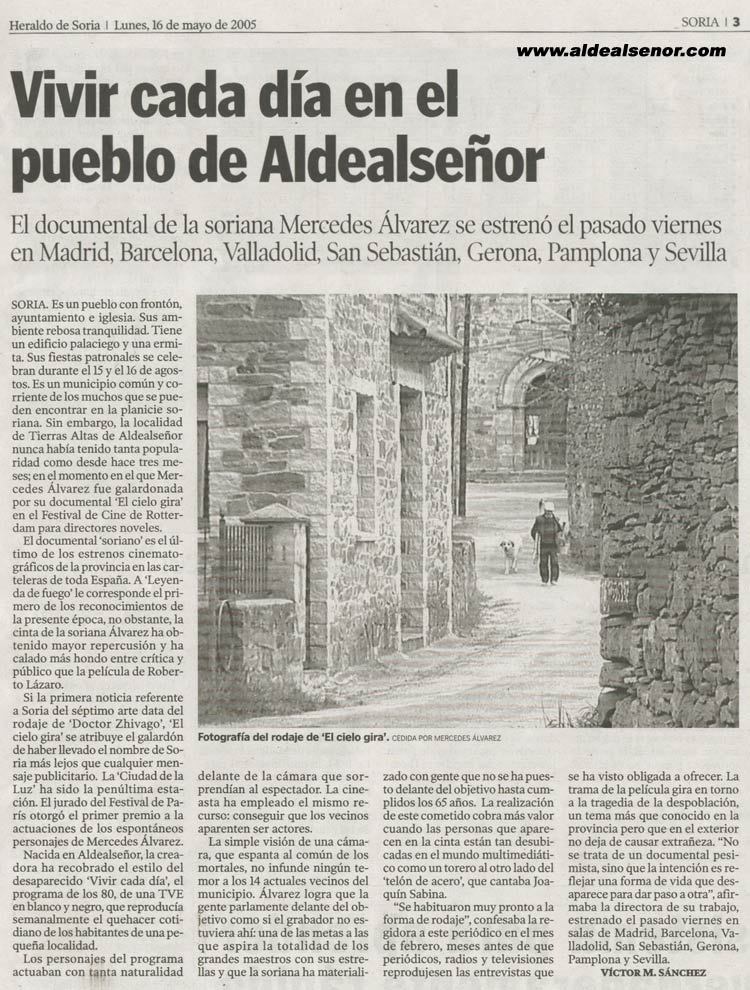 ALDEALSEÑOR - Heraldo de Soria - Vivir cada día en el pueblo a68c853e5f80