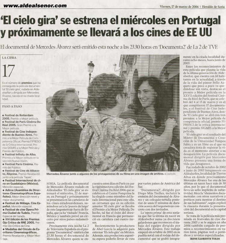ALDEALSEÑOR - Heraldo de Soria - El Cielo Gira se estrena el ... 524dc29f6aa7