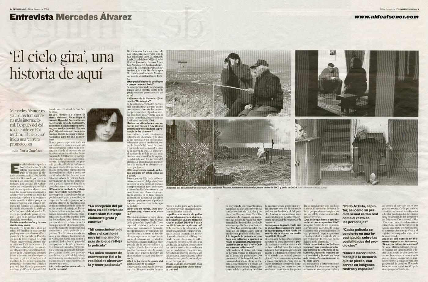ALDEALSEÑOR - Heraldo de Soria - Entrevista Mercedes Álvarez b12316f3b523